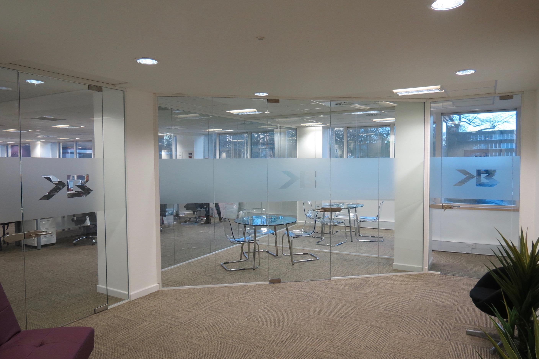 Nash Glass Single glazed partition
